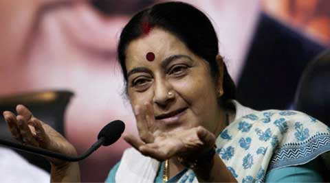 Swaraj tweeted her opposition to the planned merger of Sreeramulu's BSR Congress with the BJP in Karnataka. (PTI)