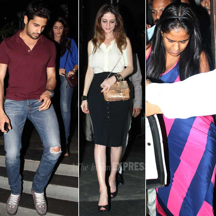 Newly-split Sussanne Roshan was spotted with an unknown male companion at a popular eatery in Mumbai on Wedensday (March 5). Sidharth Malhotra was also spotted with a mystery girl, while Salman Khan's sister Arpita stepped out solo for the night.
