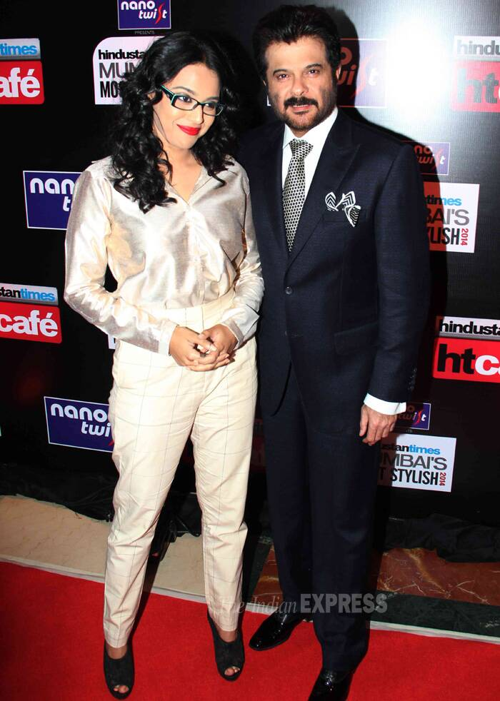 Swara is happy to pose with Anil Kapoor. (Photo: Varinder Chawla)