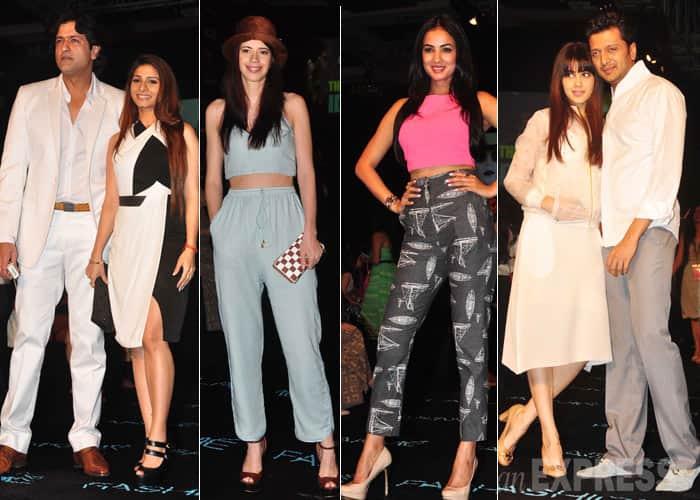 Lovevbirds Armaan-Tanishaa, Kalki, Genelia at Lakme Fashion Week 2014