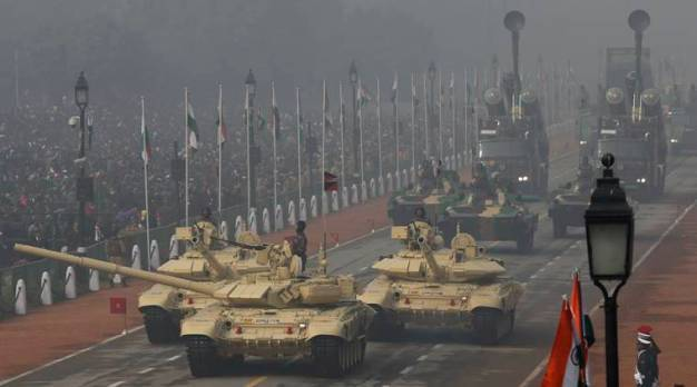 India showcases military might