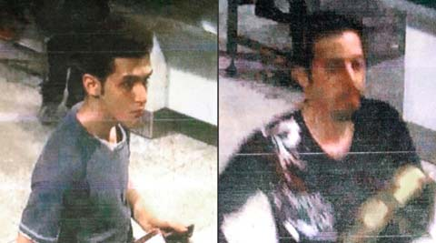 This combination of images shows an Iranian identified by Interpol as Pouria Nour Mohammad Mehrdad, who Malaysian authorities say is 19 and 29-year-old Iranian Delavar Seyed mohammaderza. The men boarded the now missing Malaysia Airlines jet MH370 with stolen passports. (AP)