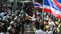 2 people shot, wounded near Thai protest site
