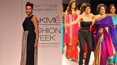 Neha Dhupia stuns on the ramp, Mandira Bedi makes her ramp debut as designer