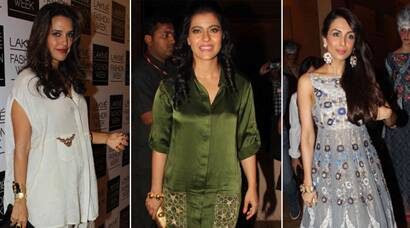 PHOTOS: LFW 2014 - Kajol, Neha, Malaika's style statement