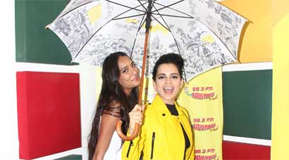 Queens day out with Kangana Ranaut, Lisa Haydon