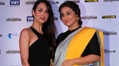 PHOTOS: Malaika sizzles in black, Vidya beautiful in sari