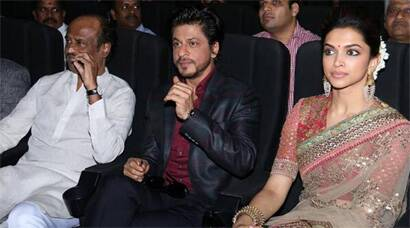 Rajinikanth, Shah Rukh Khan, Deepika Padkone at 'Kochadaiiyaan' music launch