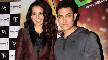 PHOTOS: 'Queen' Kangana's outing with Aamir Khan
