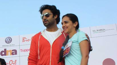 PHOTOS: Abhishek Bachchan, Tara Sharma get sporty