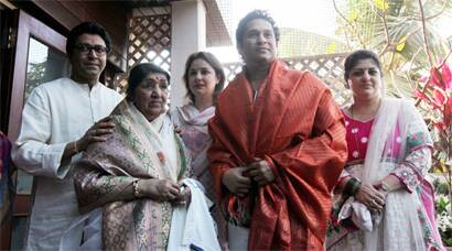 Raj Thackeray hosts Lata Mangeshkar, Sachin Tendulkar