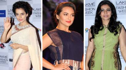 PHOTOS: Sonakshi walks the ramp for Manish Malhotra; Kajol, Kangana show support