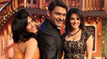 PHOTOS: Sizzling  Sunny Leone, Ekta have fun with Kapil