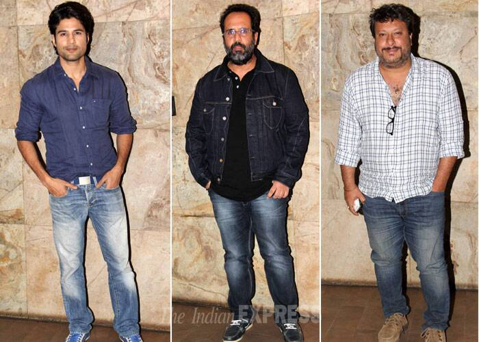 Actor Rajiv Khandelwal, 'Raanjhanaa' director Anand L. Rai and Tigmanshu Dhulia of 'Bullett Raja' were also present. (Photo: Varinder Chawla)