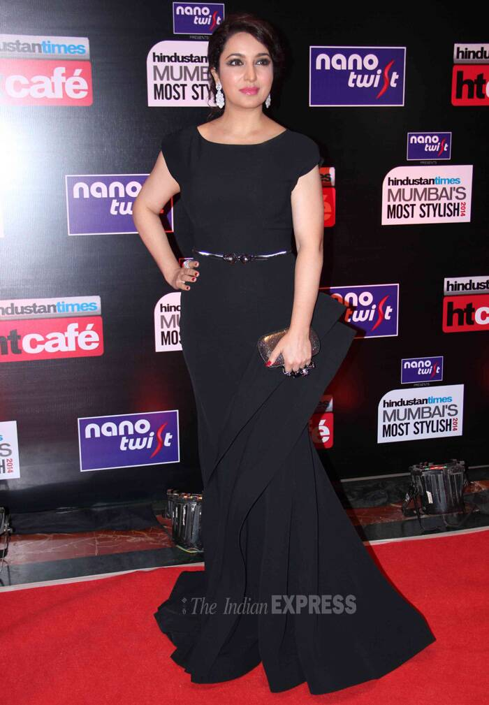 Actress Tisca Chopra also scored high on the fashion metre with  black gown with dramatic ruffles. (Photo: Varinder Chawla)