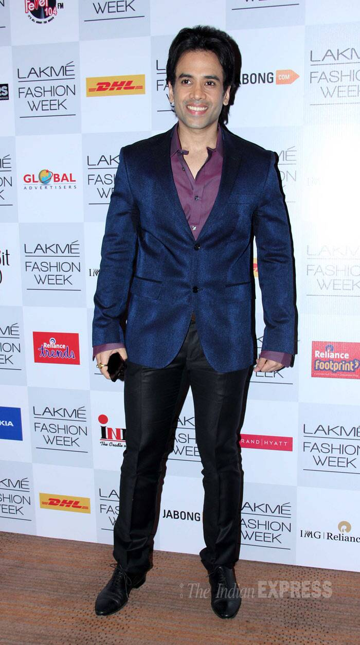 Tusshar Kapoor looked spiffy in a dark blue blazer. (Photo: Varinder Chawla)