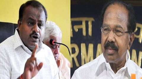 H D kumaraswamy(Left) and Veerappa Moily (right ) (Express Archive)