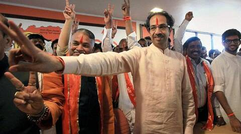Shiv Sena president Uddhav Thackeray during a meeting after announcing party candidates for the upcoming Loksabha elections, in Mumbai on Tuesday. (PTI)