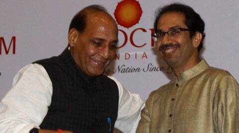 Rajnath with Uddhav (Express Archive)