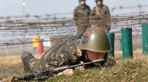 Self-defense activists perform military exercises at a military training ground outside Kiev, Ukraine, Monday. (AP)