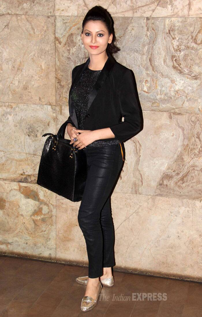 Model-turned-actress Urvashi Rautela opted for an all-black avatar. (Photo: Varinder Chawla)