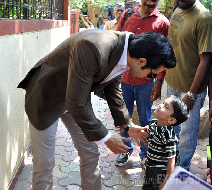 Meanwhile, Varun Dhawan was seen meeting with his young fans before unveiling the cover of a magazine.  (Photo: Varinder Chawla)