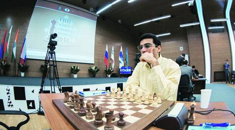 Viswanathan Anand settled for an easy 30-move draw with Shakhriyar Mamedyarov in the 10th round of the Candidates Tournament.fide.com