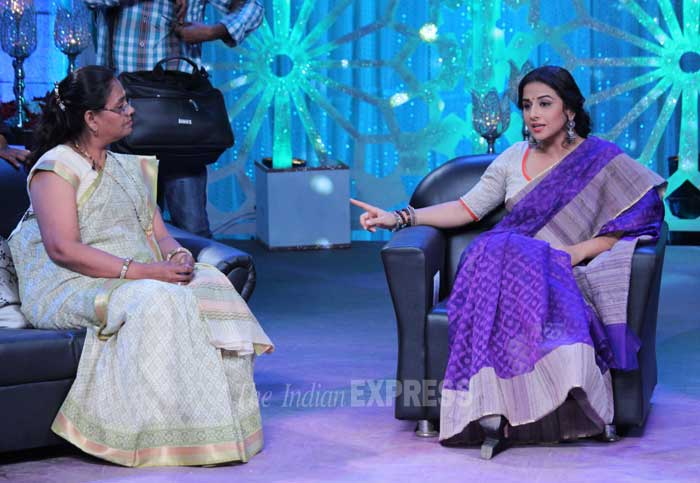 Lights, Camera and Vidya Balan is in action!  (Photo: Varinder Chawla)