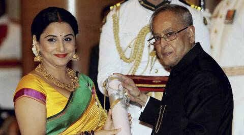 Vidya and Kamaal Haasan received their Padma Shri awards from the President of India in a ceremony at the Rashtrapati Bhawan.