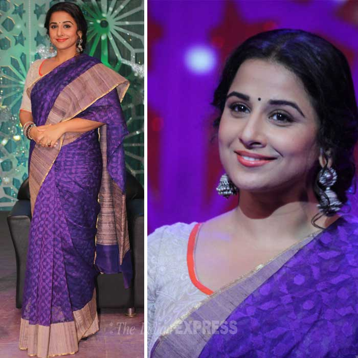 Actress Vidya Balan went ethnic recently as she shot a 'Women's Day' special for a channel. (Photo: Varinder Chawla)