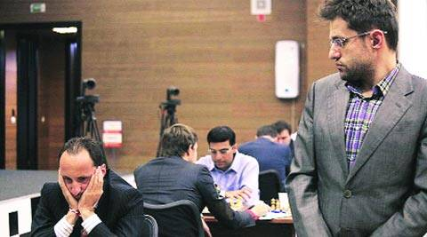 Topalov (L), who is a point behind Anand, and Aronian (R), have emerged as the Indian's challengers (FIDE.com)