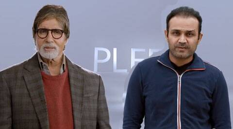 "Amitabh Bachchan says, ""I Pledge To Vote."""