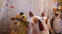 Vrindavan widows counter age-old social evil, play Holi with colours, gulal