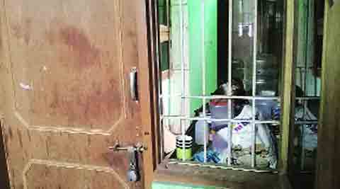 Waqar was picked up from this rented room in Pratap Nagar