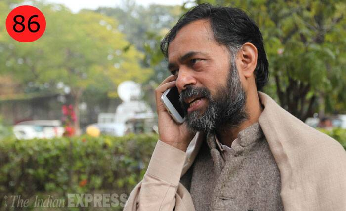 "<b>Yogendra Yadav</b> (50),  Aam Aadmi Party leader<br /> <b>WHY</b>: In the last one year, Yadav has graduated from the man who analysed elections — he ""retired"" as a psephologist after successfully predicting the Samajwadi Party's landslide victory in 2012 UP polls — to a candidate all set to fight polls from Gurgaon in Haryana."