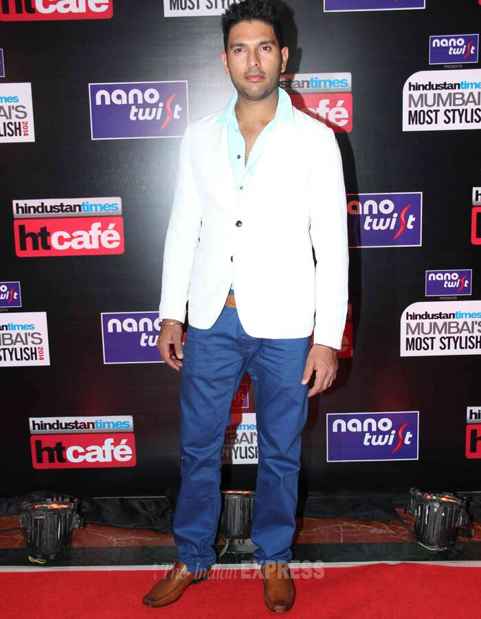 Cricketer Yuvraj Singh was suave at the event. (Photo: Varinder Chawla)