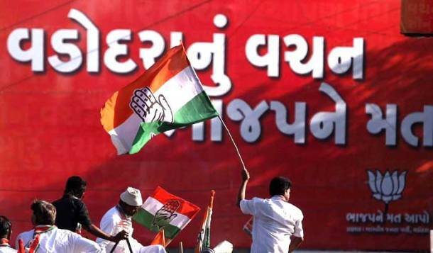 Congress candidates Sanjay Nirupam, Madhusudan Mistry hold roadshows in respective constituencies