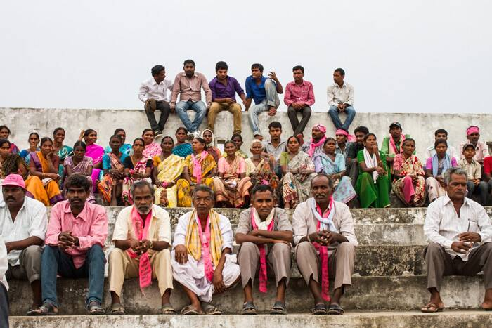 The Karimnagar Lok Sabha seat and the 13 Assembly seats in the district are important for the TRS. Karimnagar has been at the centrestage of the Telangana movement since 1969, a legacy KCR has been quick to hold on to. He had contested as an MP from Karimnagar in 2004.<br />Supporters of the Telangana Rastra Samithi at a public meeting addressed by K Chandrasekhar Rao in Nalgonda. (IE Photo)