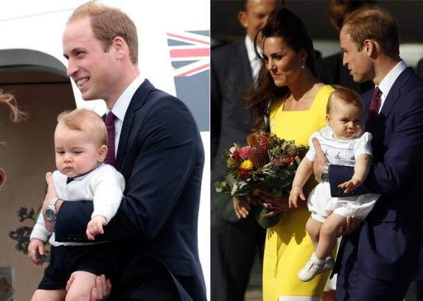 Kate Middleton brings sunshine to Australia with Prince George, Prince William