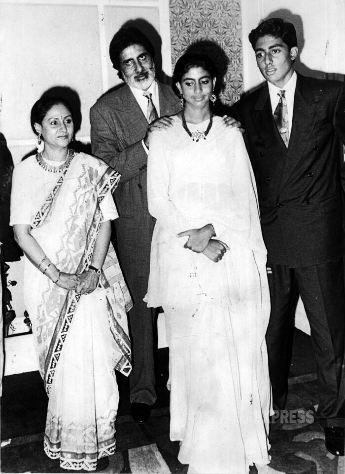 """I don't think I'm an extraordinary mother. I come from a decent middle class family. I've just behaved normally with my children,"" Jaya Bachchan said in an interview.<br />Jaya and Amitabh Bachchan pose with their children Shweta and Abhishek when they were in their teens. (Express archive photo)"