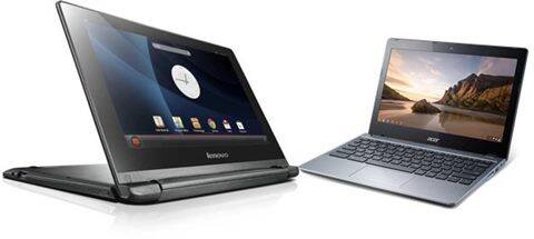 The Lenovo IdeaPad A10 and Acer C720 Chromebook both run OS created by Google