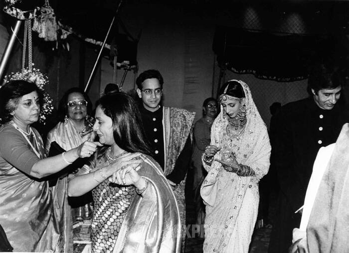 Jaya and Amitabh Bachchan's eldest child and daughter Shweta married industrialist Nikhil Nanda in 1997. She lives in Delhi with her children Navya Naveli and Agastya. (Express archive photo)