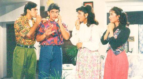 A still from film Andaz Apna Apna.
