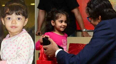 The young fan had wrapped the gift for Aaradhya, but opened and revealed the contents to Big B before repacking it.