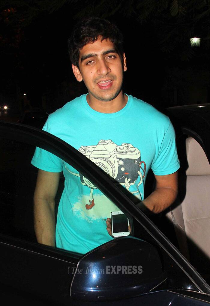 Ayan Mukerji who is known to be very close to Ranbir was wearing a blue tee shirt. (Photo: Varinder Chawla)