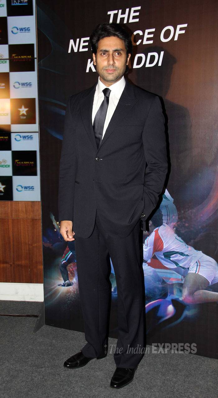 he actor was suave in a dark black suit. (Photo: Varinder Chawla)