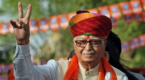 BJP patrich LK Advani was addressing a public meeting at Thandla.