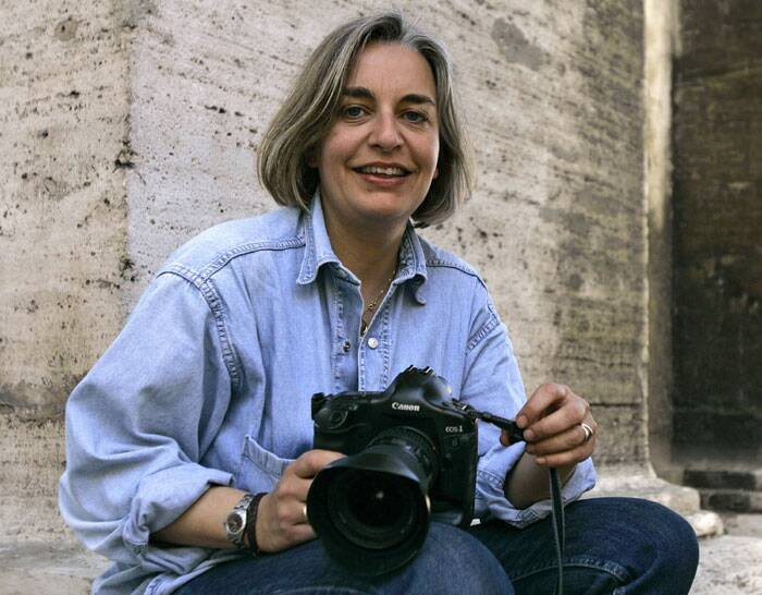 A veteran Associated Press photographer, Anja Niedringhaus, 48 was killed and an AP reporter was wounded today when an Afghan policeman opened fire while they were sitting in their car in eastern Afghanistan. (AP)