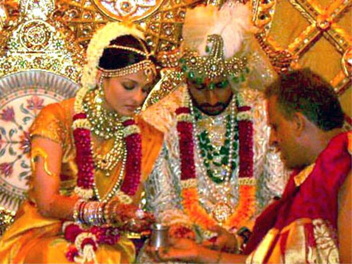A new entrant came into the family when her son Abhishek tied the knot with his 'Guru' co-star and former Miss World Aishwarya Rai Bachchan. (Express archive photo)