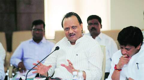 Deputy Chief Minister Ajit Pawar addresses a press conference at Council Hall on Saturday.  (Photo: Pavan Khengre)